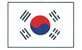 エクスラン万国旗 70×105cm 大韓民国【店内装飾】【業務用】