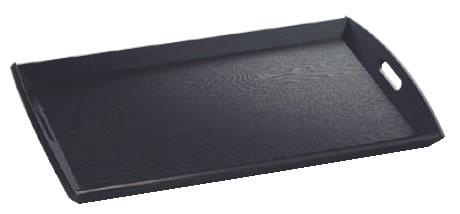 新型脇取盆 黒(栓材) 大 17198【トレイ】【お盆】【業務用】