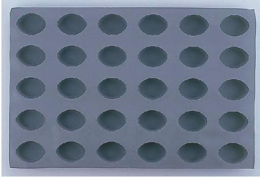 デバイヤーエラストモール 1830-60 オーバル型 30ヶ取 【シリコン型 ベーキングモルド】【ケーキ型 洋菓子焼型 】【製菓用品 製パン用品】【フレキシブルモルド 天板型】【De BUYER】【業務用】