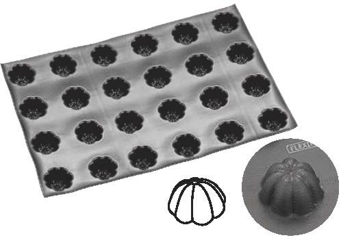 ドゥマール フレキシパン 24取 1079 シャルロット 【シリコン型 ベーキングモルド】【ケーキ型 洋菓子焼型 】【製菓用品 製パン用品】【フレキシブルモルド 天板型】【DEMARLE】【業務用】