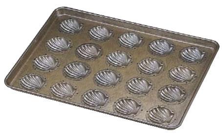 シリコン加工 ほたて貝型天板(20ヶ取) 【シリコン加工 タルト型】【ケーキ型 洋菓子焼型 】【製菓用品 製パン用品】【フレキシブルモルド 天板型】【業務用】