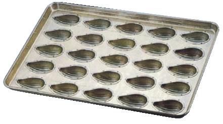 シリコン加工 アマンドナッツ型天板 (25ヶ取) 【シリコン加工 タルト型】【ケーキ型 洋菓子焼型 】【製菓用品 製パン用品】【フレキシブルモルド 天板型】【業務用】