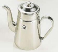 SA18-8コーヒーポット #15(電磁調理器用) 【珈琲ポット 珈琲用品】【喫茶用品】【コーヒーマシン コーヒー用品】【18-8ステンレス】【Ω】【業務用】