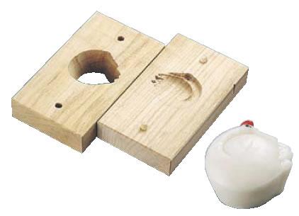 手彫物相型(上生菓子用) 鶴 【手彫り物相型】【引菓子 小物 季節物】【製菓用品】【和菓子用品 アメ細工類】【業務用】