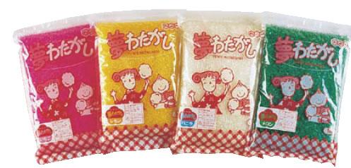 わた菓子用ザラメ 夢わたがし レモン (1kg×20袋入) 【綿菓子 綿飴 わた飴】【縁日用品】【業務用】
