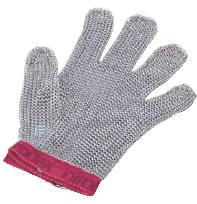 ニロフレックス メッシュ手袋5本指(片手) L L5(青)【金属メッシュ手袋】【niroflex】【防刃】【特殊手袋】【業務用】