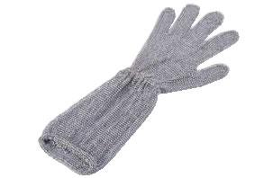ロングカフ付 メッシュ手袋5本指(片手) S LC-S5-MBO(1)【代引き不可】【金属メッシュ手袋】【niroflex】【防刃】【特殊手袋】【業務用】