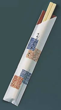 割箸袋入 元禄吹き寄せ アスペン元禄 (1ケース100膳×40入)【はし】【箸】【割り箸】【業務用】