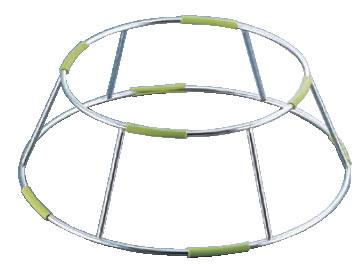 ワイヤースタンド ラウンド/2way BQ0409(GR)【バイキング ビュッフェ】【バンケットウェア】【盛器 大皿】【スタンド】【飾り台】【業務用】