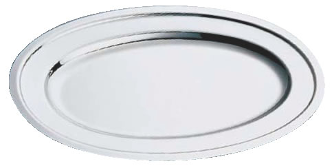 SW18-8プレーン小判皿 22インチ【バイキング ビュッフェ】【バンケットウェア】【皿】【18-8ステンレス】【業務用】