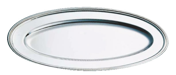 SW18-8 B渕魚皿 26インチ【バイキング ビュッフェ】【バンケットウェア】【皿】【18-8ステンレス】【業務用】