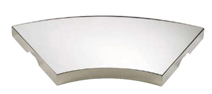 UK18-8ロイヤル末広型ミラープレート (アクリル)【代引き不可】【バイキング】【ビュッフェ】【バンケットウェア】【皿】【装飾台】【18-8ステンレス】【業務用】