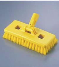 カーライル フロア-ブラシ 40430 イエロー(ハンドル別売) 【デッキブラシ】【清掃道具 掃除道具】【Carlisle】【業務用】