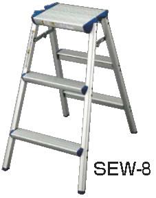 脚立 踏み台 清掃道具 秀逸 掃除道具 清掃用品 SEW-8 掃除用品 お掃除収納 業務用 アルミ踏台 新作続