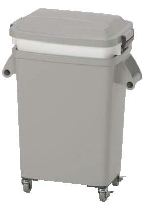 水切り厨房ペール(キャスター付) CW-45 グレー 【ごみ箱】【リサイクルボックス】【ダストボックス】【ペール】【業務用】