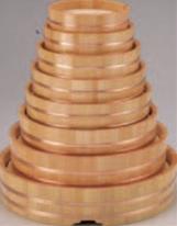 丸桶 (スノ子付) 尺4寸【盛込器】【料亭に】【盛器】【木製】【白木】【1-737-10】