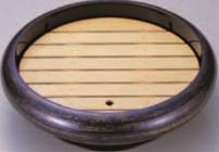 尺2寸S.D.X回転盛桶 紫金カスリ 木製目皿付【オードブルに】【回転皿】【回転盛皿】【パーティーに】【新年会に】【回転台】【回転盛込器】【正月に】【M-12-62】