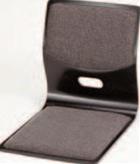 木製座椅子 黒L型グレー布張【椅子】【座椅子】【イス】【和室椅子】【旅館に】【1-927-10】