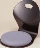 とメ和座椅子 黒 クッション グレー付【椅子】【座椅子】【イス】【和室椅子】【旅館に】【1-927-22】