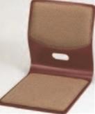 木製座椅子 黄L型ブラウン布張【椅子】【座椅子】【イス】【和室椅子】【旅館に】【1-927-9】