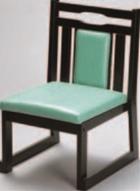 新優高椅子(縦張り) レザー・グリーン【代引き不可】【椅子】【座椅子】【イス】【和室椅子】【旅館に】【料亭に】【A-3-44】