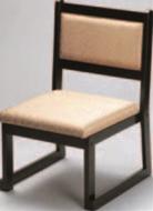大和高椅子(横張り) ベージュ(布)【代引き不可】【椅子】【座椅子】【イス】【和室椅子】【旅館に】【料亭に】【A-3-46】