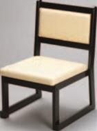 大和高椅子(横張り) レザー・クリーム【代引き不可】【椅子】【座椅子】【イス】【和室椅子】【旅館に】【料亭に】【A-3-47】
