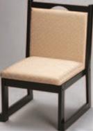鎌倉高椅子 ベージュ(布)【代引き不可】【椅子】【座椅子】【イス】【和室椅子】【旅館に】【料亭に】【A-3-55】