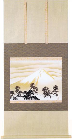 掛け軸『明けゆく日本』(あけゆくにほん) (縮小版) 横山大観