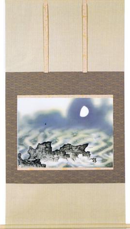 掛け軸『海十題の内 海の夏』縮小版(うみじゅうだいのち  うみのなつ)横山大観