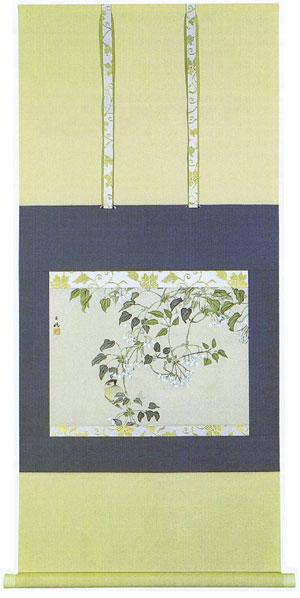 掛け軸『郁子の花』平福百穂 ひらふく・ひゃくすい