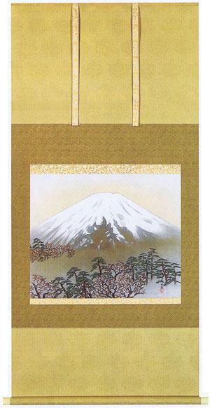 掛け軸『桜富士』横山大観