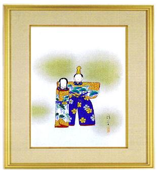 日本画・日本画家・『雛』鏑木清方シルクスクリーン・特別限定工藝画・贈答品・お祝いの品・長寿祝い・引越祝い・開業祝い・開院祝い・誕生日・新築祝い