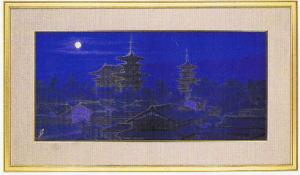 日本画・日本画家・平山郁夫『寧楽の幾望』シルクスクリーン・特別限定工藝画・贈答品・お祝いの品・長寿の祝い・引越祝い・開業祝い・開院祝い・誕生日・新築祝い