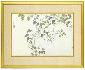 日本画・日本画家・『郁子の花』平福百穂シルクスクリーン・特別限定工藝画・贈答品・お祝いの品・長寿祝い・引越祝い・開業祝い・開院祝い・誕生日・新築祝い