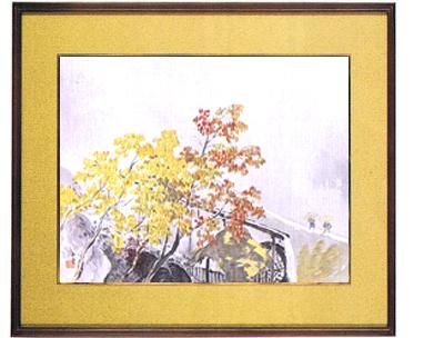 日本画・日本画家・『秋雨』川合玉堂シルクスクリーン・特別限定工藝画・贈答品・お祝いの品・長寿祝い・引越祝い・開業祝い・開院祝い・誕生日・新築祝い