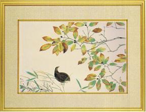 日本画・日本画家・『鶉』横山大観シルクスクリーン・特別限定工藝画・贈答品・お祝いの品・長寿祝い・引越祝い・開業祝い・開院祝い・誕生日・新築祝い