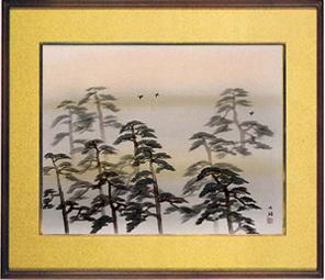日本画・日本画家・『曙』横山大観シルクスクリーン・特別限定工藝画・贈答品・お祝いの品・長寿祝い・引越祝い・開業祝い・開院祝い・誕生日・新築祝い