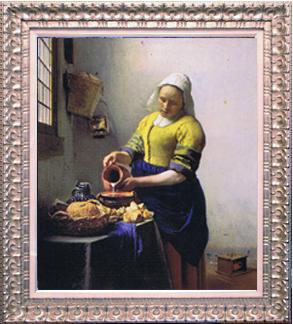 絵画フェルメール『牛乳を注ぐ女性』