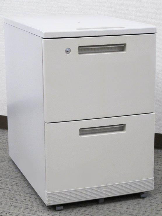 デスクワゴン 事務ワゴン サイドワゴン 袖机 脇机 2段【オフィス家具】