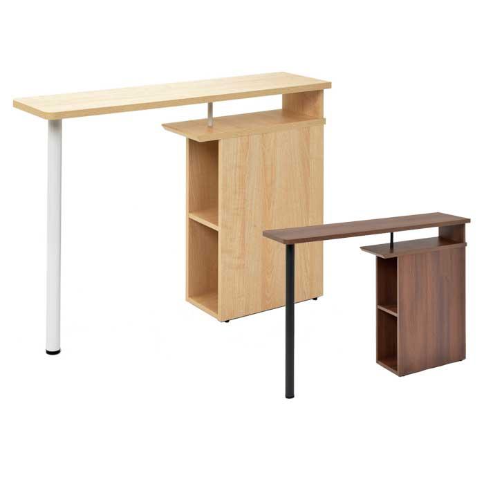 木製デスクサイドテーブル デスク ワークスペース 机 事務用机 オフィス用デスク 2色あり