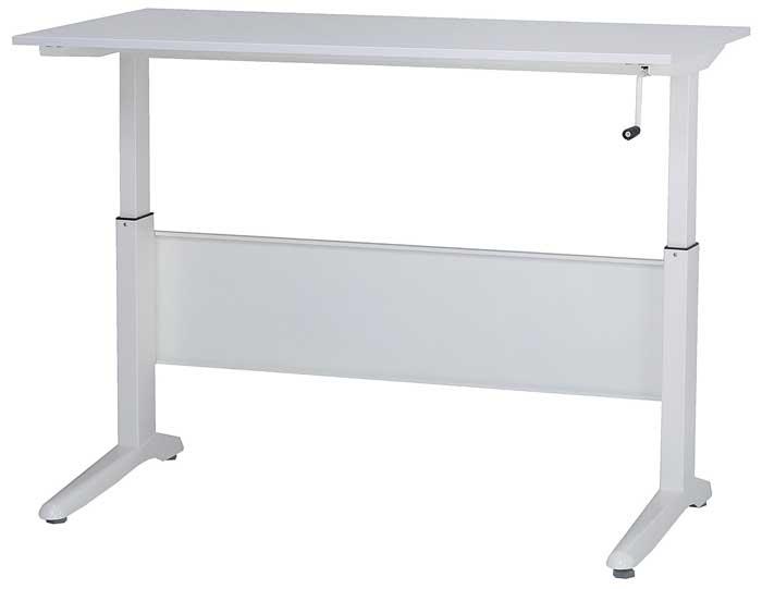 昇降デスクKRU リフトテーブル 昇降式テーブル ワークテーブル ワーキングデスク 平机 オフィスデスク 事務机 事務デスク ワークデスク 幅1400mm