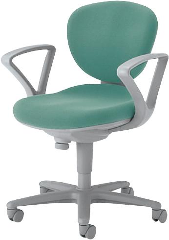 オフィスチェア 肘付き キャスター付き 椅子 事務用 4色あり 新品