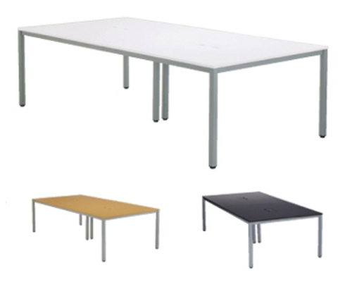 【テーブル】 会議テーブル ミーティングテーブル W2400×D1200 3色あり オフィス家具