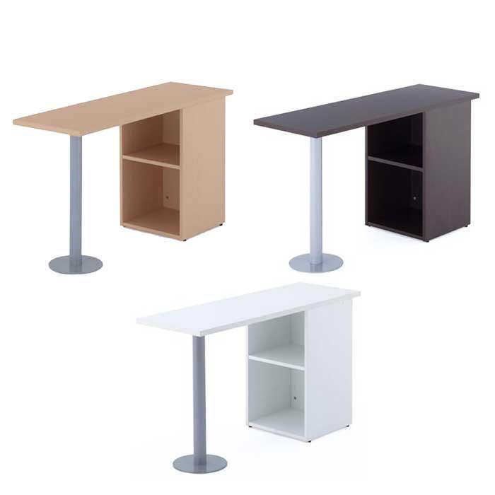 サイドテーブル W1200×D400 サイドデスク カウンターテーブル ワークテーブル 3色あり