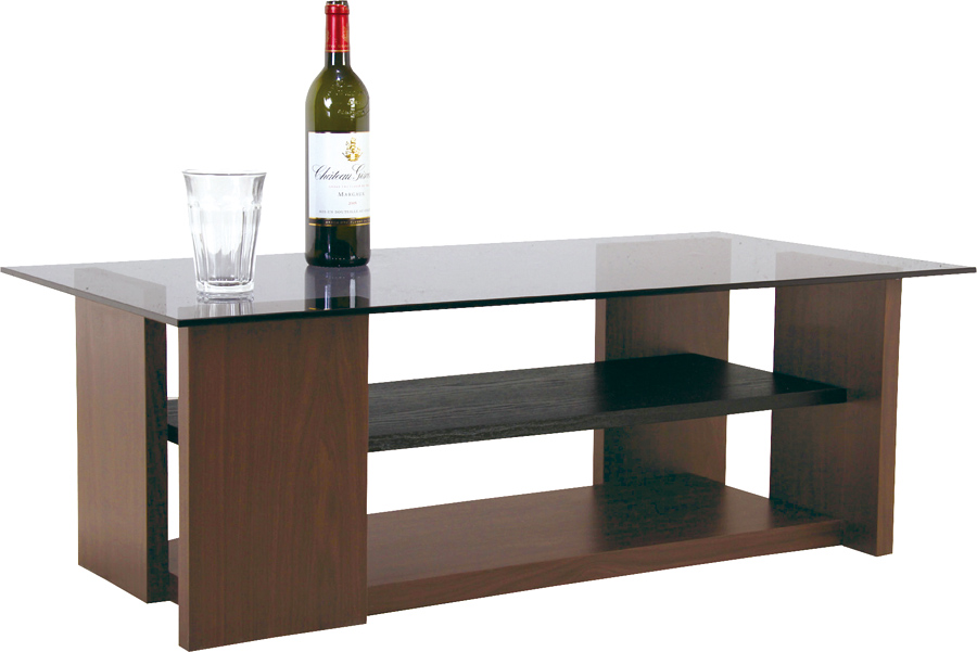 送料無料 新品 木製 ローテーブル W1000×D500×H340mm ガラス天板 センターテーブル 役員家具 応接テーブル リビングテーブル