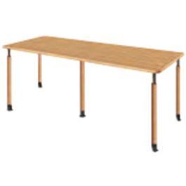 福祉施設向けテーブル 昇降テーブル 4本キャスター脚+1本固定脚