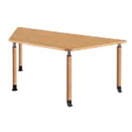 福祉施設向けテーブル 昇降テーブル 2本固定脚+2本キャスター脚