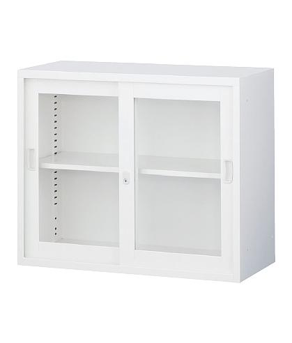 引き違い書庫 A4対応 キャビネット 本棚 書棚 収納庫 引戸書庫
