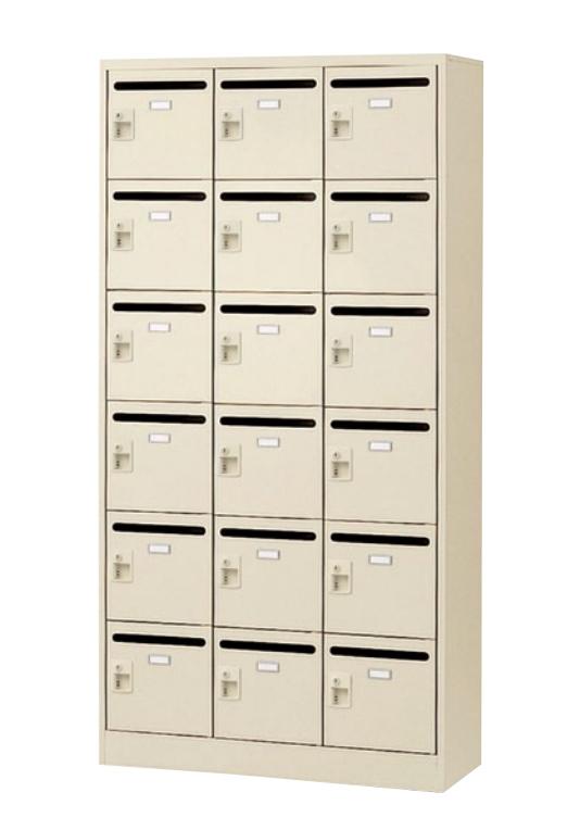 18人用 メールボックス 3列6段 W900 収納庫 郵便受け【完成品】